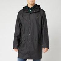 RAINS Men's Long Jacket - Black - S-M