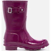 Hunter-Womens-Original-Short-Gloss-Wellies-Violet-UK-3-Purple