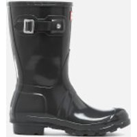 Hunter-Womens-Original-Short-Gloss-Wellies-Dark-Slate-UK-8-Grey