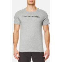 Craghoppers Mens Eastlake Linear Landscape Short Sleeve T-Shirt - Soft Grey Marl - L - Grey