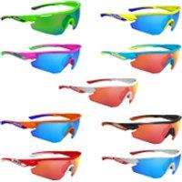 Salice 012 RW Mirror Sunglasses - White/Red