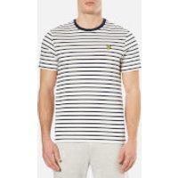 Lyle & Scott Mens Breton Stripe T-Shirt - Off White - M - White