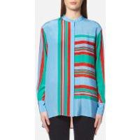 Diane-von-Furstenberg-Womens-Long-Sleeve-Oversized-Shirt-Borel-S-Multi