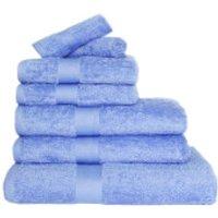 Restmor 100% Egyptian Cotton 7 Piece Luxury Towel Bale (600GSM) - Cobalt