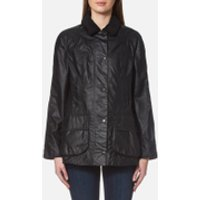 Barbour Womens Beadnell Wax Jacket - Navy - UK 12