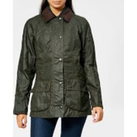 Barbour Womens Beadnell Wax Jacket - Olive - UK 12