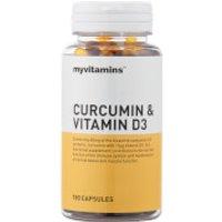 Curcumin & Vitamin D3 - 3 Months (180 Capsules)
