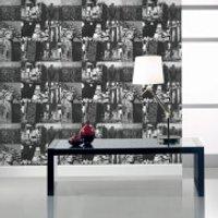 Fresco New York Black/White Wallpaper