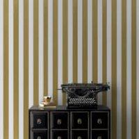 Graham & Brown Gold/White Metallic Stripe Wallpaper