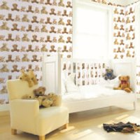 Graham & Brown Kids' Teddy Bears Brown Wallpaper - Teddy Bears Gifts