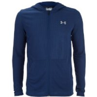 Under Armour Mens Threadborne Fitted Full Zip Hoody - Blackout Navy - S - Blackout Navy