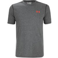 Under Armour Mens Threadborne Fitted T-Shirt - Black/Phoenix Fire - L - Black/Phoenix Fire