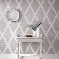 Julien Macdonald Jewel Pearl/Silver Metallic Wallpaper - Jewel Gifts