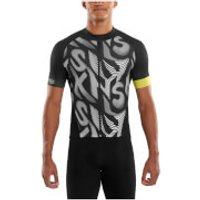 Skins Cycle Mens Classic Short Sleeve Jersey - Leviathan/Black - S - Black
