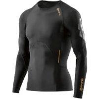 Skins A400 Mens Compression Long Sleeve Top - Oblique - XL - Oblique