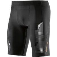 Skins A400 Mens Compression Half Tights - Oblique - XL - Black