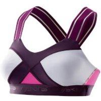 Skins DNAmic Womens Speed Crop Top - Magenta - L - Pink
