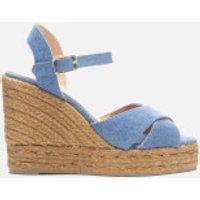 Castaner Women's Blaudell Wedged Espadrille Sandals - Jeans - UK 7 - Blue