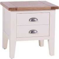 Vancouver Expressions Linen Side Table with Drawers
