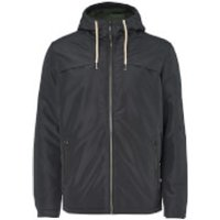 Jack and Jones Mens Originals Calm Zip Through Hooded Jacket - Asphalt - M - Grey