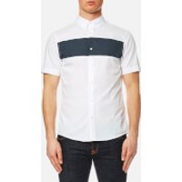 Michael Kors Mens Short Sleeve Colour Block Shirt - White - L