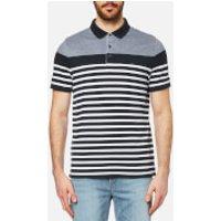 Michael Kors Mens Engineer Stripe Polo Shirt - Midnight - XL