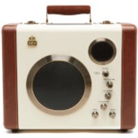 GPO Retro Manga Bluetooth Speaker and Guitar Amp - Cream/Tan - Manga Gifts