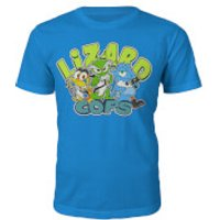 Lizard Cops T-Shirt - Kids XL (12/13 years) - Blue