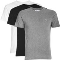 Ben Sherman Mens 3 Pack T-Shirt - Black/White/Grey - S