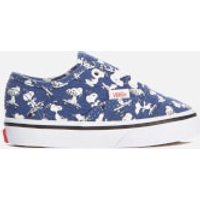 Vans X Peanuts Toddlers' Authentic Trainers - Snoopy/Skating - UK 2 Toddlers - Blue
