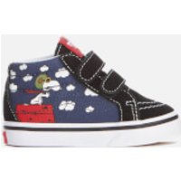 Vans X Peanuts Toddlers Sk8 Mid Reissue Velcro Trainers - Flying Ace/Dress Blues - UK 2 Toddlers - Blue