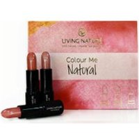Living Nature Colour Me Natural Lipstick Set - 3 Natural Shades (Worth 60.00)