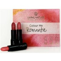 Living Nature Colour Me Romantic Lipstick Set - 3 Different Shades of Pink (Worth PS60.00)