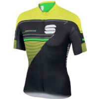 Sportful Gruppetto Pro LTD Short Sleeve Jersey - Black/Yellow/Green - M - Black/Yellow/Green