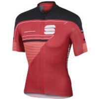 Sportful Gruppetto Pro LTD Short Sleeve Jersey - Red/Black - M - Red/Black