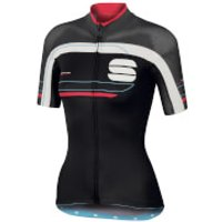 Sportful Women's Gruppetto Pro Short Sleeve Jersey - Black/Grey/Pink - M - Black/Grey/Pink