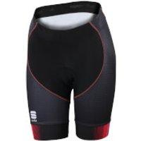 Sportful Womens Gruppetto Pro Shorts - Black/Pink - S - Black/Pink
