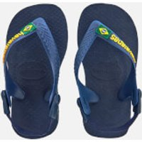 Havaianas Toddlers Brasil Logo Flip Flops - Navy Blue/Yellow - EU 20/UK 4 Toddler - Navy