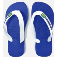 Havaianas Kids' Brasil Logo Flip Flops - Marine Blue - EU 29-30/UK 12 Kids - Blue