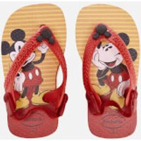 Havaianas Toddlers Disney Classics Flip Flops - Red/Black - EU 17-18/UK 1-2 Toddler - Red
