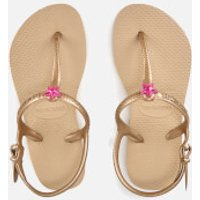 Havaianas Kids Freedom Flip Flops - Sand Gold - EU 23-24/UK 7 Kids - Beige