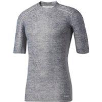 adidas Mens TechFit Climachill T-Shirt - Core Heather - XS - Core Heather