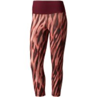 adidas Womens 3/4 Tights - Print/Maroon - L