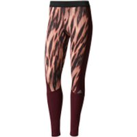 adidas Womens TechFit Tights - Print/Energy - S - Print/Energy