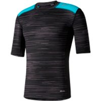 adidas Mens TechFit Base GFX Compression T-Shirt - Black - L - Black