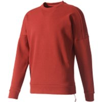 adidas Men's ZNE Crew Sweatshirt - Mystery Red - XL - Mystery Red