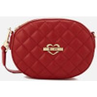 Love Moschino Women's Quilted Round Small Cross Body Bag - Red