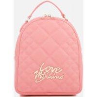 Love Moschino Womens Matt Quilted Backpack - Pink