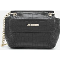 Love Moschino Womens Croc Small Cross Body Bag - Black