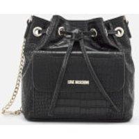 Love Moschino Womens Croc Bucket Bag - Black